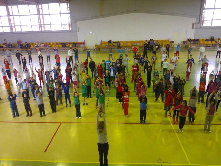 Educatie fizica in sala de sport Dorolt